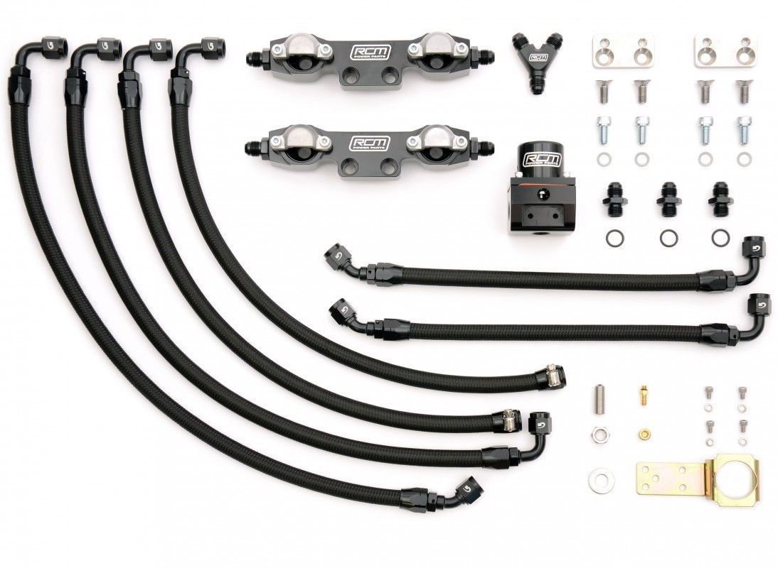 Rcm Subaru Impreza Side Feed Parallel Billet Fuel Rail Kit